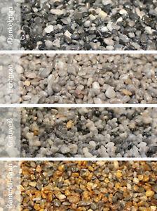 Steinteppich Set außen innen Naturstein Marmorkies mit Epoxidharz Bindemittel