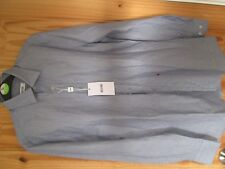 "Moschino men's blue stripe shirt. New. Small - 37. 14.5"" collar."