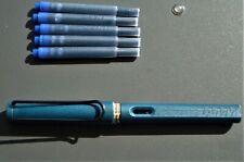 Lamy Füllhalter Safari 024-M PETROL Special Edition, NEU + 5 x Patronen T10 blau