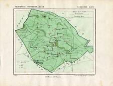ANTIQUE MAP-NETHERLANDS-HAPS-NOORD BRABANT-KUYPER-1865