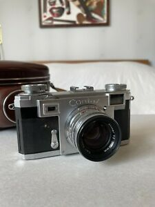 [Near Mint]Contax Zeiss Ikon IIa Color Dial Sonnar 50mm f/2