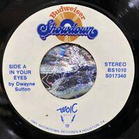 "rare modern soul budweiser showdown 7"" DWAYNE SUTTON In Your Eyes MP3 WOIC Magic"