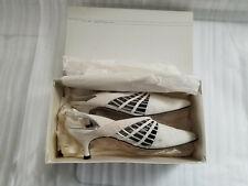 Vintage Via Spiga York Ice/Argento Suede Heels Ladies Shoes Size 8 1/2 Italy