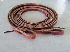 """5/8"""" X 8' Foot Harness Leather Split Reins w/ Water Loops USA Made 5628"""