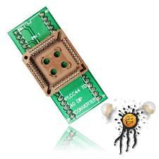 Qfj44 PLCC 44 Socket 1,27 to a dip 40 2,54 mm Adaptateur 690x690 Mil 17,5x17,5 mm