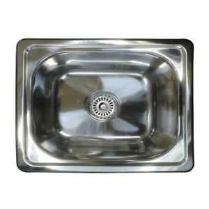 Single Bowl Bar Kitchen Laundry Sink Small Inset Stainless Steel Tub SE4 20L