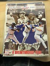 1998 MLB Baseball ALDS Official Program Yankees vs.Texas Rangers - Jeter, Rivera