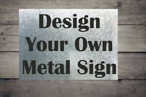 Personalised Custom Made METAL Sign Board Indoor And Outdoor Use