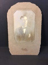 Old Vintage Antique Photos Man With bow tie Vicksburg, Mississippi. Creepy 6x4