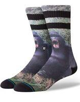 STANCE Men's  Gorilla Crew Socks Black Combo Size M