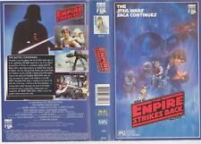STAR WARS THE EMPIRE STRIKES BACK CBS FOX  VHS VIDEO PAL~ A RARE FIND 1478