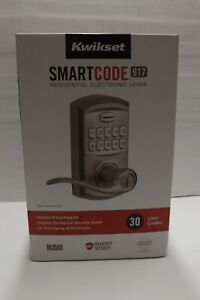Kwikset SmartCode 917 Entry Traditional Residential Electronic Lever 99170-001