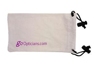 GoOpticians Premium Microfibre Draw String Sunglasses Pouch & Cleaner - Grey