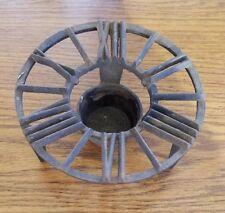 Vintage Cast Iron Pyrex Coffee Pot Candle Warmer Plate Trivet Clock Face