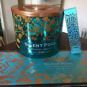1 X Brand New Stunning Silent Pool Gin Ice Bucket Bar Runner & Straws / Home Bar