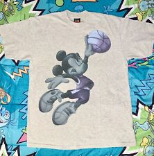 New listing 90s Air Mickey Basketball Vtg Disney T shirt Adult Large Single Stitch Jordan