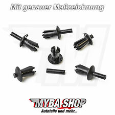 10x MOUNTING CLIPS SPREADER RIVETS FOR AUDI BMW RENAULT CITROEN VW | n10259301