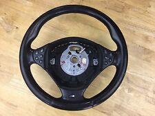 1999-2005 BMW E38 528i 528i M5 Leather Steering Wheel Oem Black