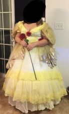 Handmade Adult Belle Costume - Cosplay Dress Size 14 Beauty And The Beast -Belle