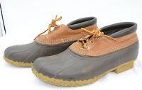 L. L. Bean USA Leather Rubber Hunting Work Duck Rain Boots Mocs Mens Sz 8