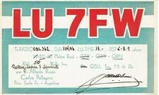 Old QSL from J Alberto Busso, Carlos Pellegrini, Buenos Aires (LU7FW) 1/4/1946