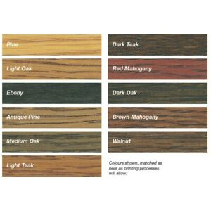 Rustins 250ML Wood Dye Quick Drying, Non-Fading and Non-Bleeding All 12 Colours