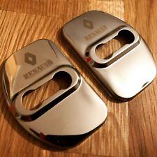 Renault Door Lock Covers MEGANE SCENIC LAGUNA CAPTUR CLIO RENAULT SPORTRS SILVER