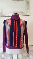 Genuine Vintage St Micheal Aztec Nordic Knitted Wear Waistcoat Size  10 12