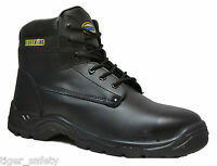 Tuffking 2407 S3 Black Outsize Large Steel Toe Cap Safety Work Boots Size 14-16