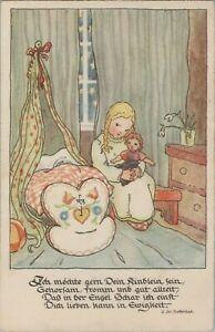"""AK*, """"Ich möchte gern Dein Kindlein sein..."""", v. Dieffenbach, 1947, (VL) 80041"""