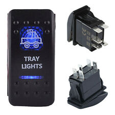 12V5Pins Rocker Toggle Switch Blue LED Light Car Truck Boat Waterproof ON-OFF