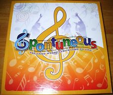 Spontuneous Family Board Game Where Lyrics Come to Life 100% COMPLETE! MINT!