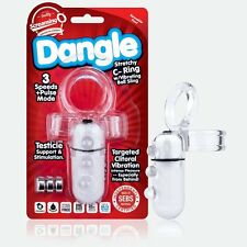 ScreamingO Dangle Vibrating Male Penis Cock Ring + Testicles Ball Sling Enhancer