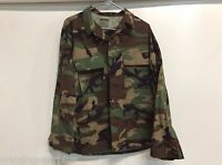 NEW USGI US MILITARY WOODLAND BDU TOP COAT JACKET WARM WEATHER SIZE SMALL LONG