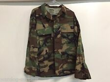 NEW USGI US MILITARY WOODLAND BDU TOP COAT JACKET WARM WEATHER SIZE MEDIUM REG