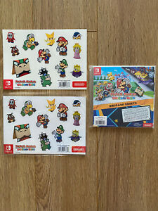 Paper Mario The Origami King Origami Sheet Magnets Stickers New & Sealed NO GAME