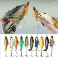 Fishing Lure Artificial Hard Bait 3D Eye Plopper Soft Tail tackleF Spinning G9J2