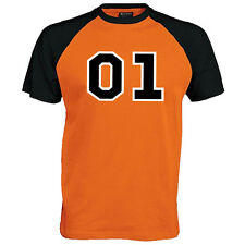 01 General Lee Baseball T-shirt - Dukes of Hazzard Fan Film Unisex Mens Gift Top Medium