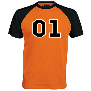 01 General 2 tone Baseball T-Shirt - Dukes Lee  Fan Film Unisex Mens Top