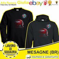 Felpa - ALFA ROMEO GIULIA - Car Italian Motor Motori Automobile Idea Regalo Cars