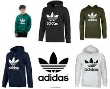 Adidas Men's Hoodie Trefoil Logo Pouch Pocket Premium Pullover Hooded Sweatshirt