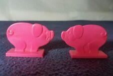 VINTAGE 1973 Hasbro Romper Room Animal Farm Game set 2 Pigs Replacement parts