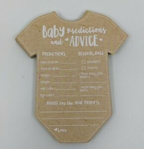 Prediction Advice Baby Shower Game Cards Kate Aspen - Set of 28
