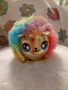 "NEW Squeezamals~ Scented Hedgehog ""Punky""~ Series 3~ Metallic Gold w/ Rainbow"