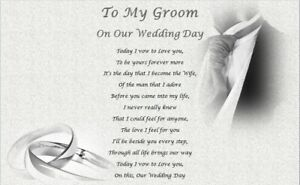 MY GROOM on our wedding day -  personalised husband gift, gift for groom