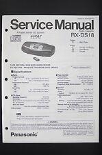 Panasonic rx-ds18 RADIO CASSETTE REPRODUCTOR MANUAL DE SERVICIO / ESQUEMA