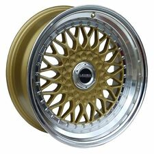 17″ LENSO BSX Wheels – GOLD / MIRROR LIP – 690kg 7.5J – FREE DELIVERY