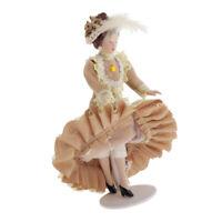 1/12 Mini Porcelain Doll Miniature for Dollhouse Classical Victorian Lady