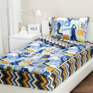 "Zipit Bedding Set Twin Size Extreme Sports 38""x74"""