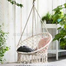 Hanging Cotton Rope Macrame Hammock Chair Swing Outdoor Home Garden US